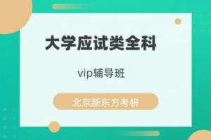 北京新东方大学应试类全科vip辅导班