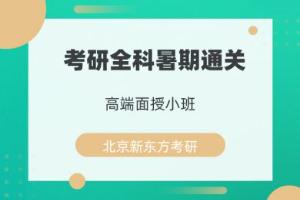 北京新东方考研全科暑期通关